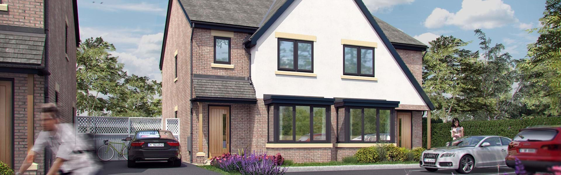 Manor Way, Crewe - A development of 10 four bedroom detached homes.